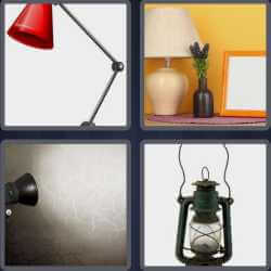 4 Pics 1 Word 4 Letters Lamp