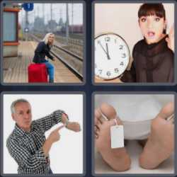 4 Pics 1 Word 4 Letters Late