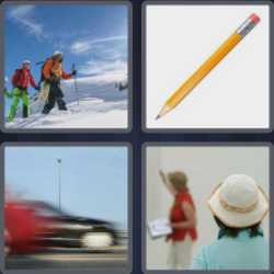 4 Pics 1 Word 4 Letters Lead