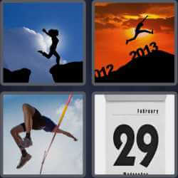 4 Pics 1 Word 4 Letters Leap
