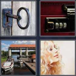 4 Pics 1 Word 4 Letters Lock