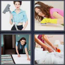 4 Pics 1 Word 4 Letters Maid
