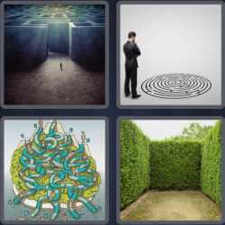 4 Pics 1 Word 4 Letters Maze