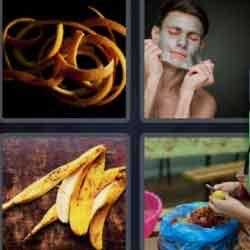 4 Pics 1 Word 4 Letters Peel