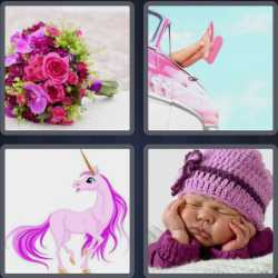 4 Pics 1 Word 4 Letters Pink