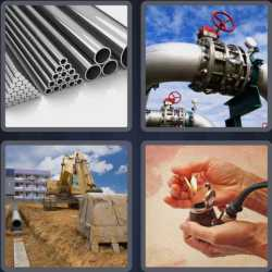 4 Pics 1 Word 4 Letters Pipe