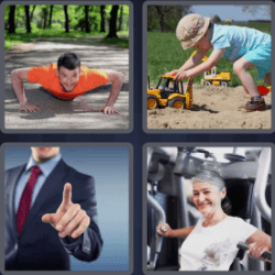 4 Pics 1 Word 4 Letters Push