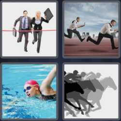 4 Pics 1 Word 4 Letters Race