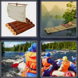 4 Pics 1 Word 4 Letters Raft