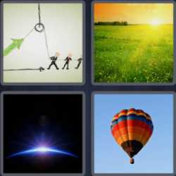 4 Pics 1 Word 4 Letters Rise
