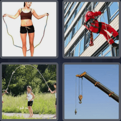 4 Pics 1 Word 4 Letters Rope
