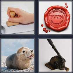 4 Pics 1 Word 4 Letters Seal