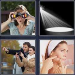 4 Pics 1 Word 4 Letters Spot