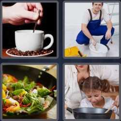 4 Pics 1 Word 4 Letters Stir