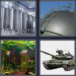 4 Pics 1 Word 4 Letters Tank