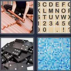 4 Pics 1 Word 4 Letters Tile