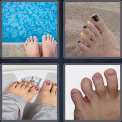 4 Pics 1 Word 4 Letters Toes