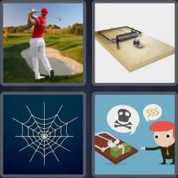 4 Pics 1 Word 4 Letters Trap