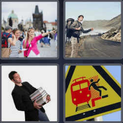 4 Pics 1 Word 4 Letters Trip