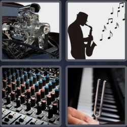 4 Pics 1 Word 4 Letters Tune