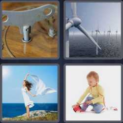 4 Pics 1 Word 4 Letters Wind