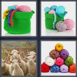 4 Pics 1 Word 4 Letters Wool