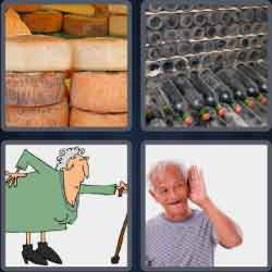 4 Pics 1 Word 4 Letters Aged