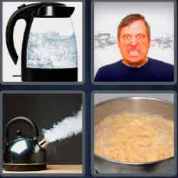 4 Pics 1 Word 4 Letters Boil