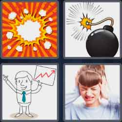 4 Pics 1 Word 4 Letters Boom