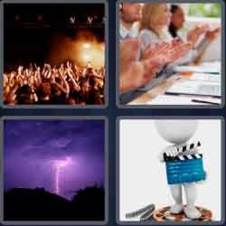4 Pics 1 Word 4 Letters Clap