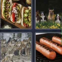 4 Pics 1 Word 4 Letters Dogs