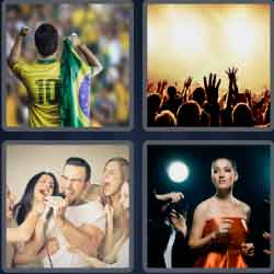 4 Pics 1 Word 4 Letters Fame