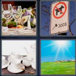 4 Pics 1 Word 4 Letters Fine