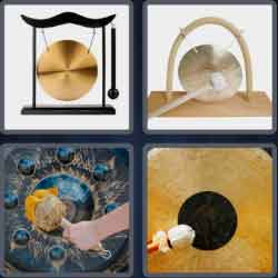 4 Pics 1 Word 4 Letters Gong