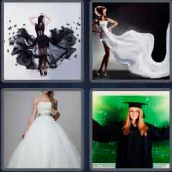 4 Pics 1 Word 4 Letters Gown