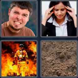 4 Pics 1 Word 4 Letters Grit