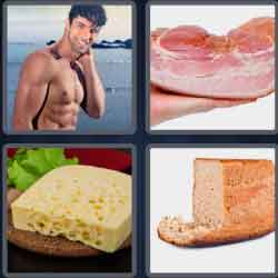 4 Pics 1 Word 4 Letters Hunk