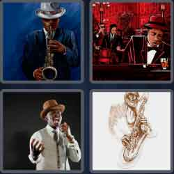 4 Pics 1 Word 4 Letters Jazz