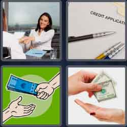 4 Pics 1 Word 4 Letters Lend