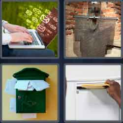 4 Pics 1 Word 4 Letters Level 3650 Mail