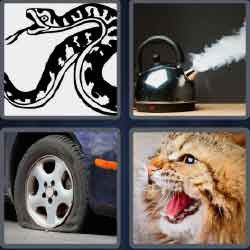 4 Pics 1 Word 4 Letters Level 3705 Hiss