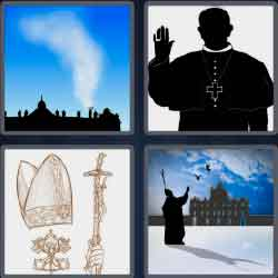 4 pics 1 word 4 letters priest priest shape