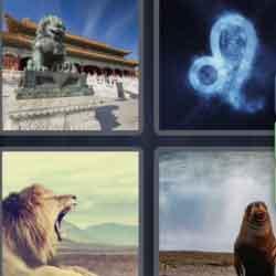 4 Pics 1 Word 4 Letters Lion