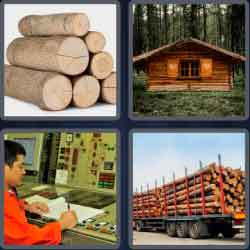 4 Pics 1 Word 4 Letters Logs