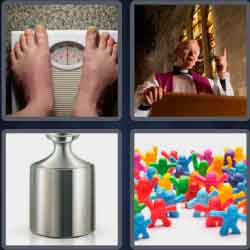 4 Pics 1 Word 4 Letters Mass