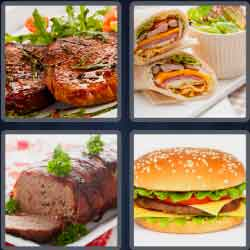 4 Pics 1 Word 4 Letters Meat