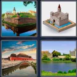 4 Pics 1 Word 4 Letters Moat
