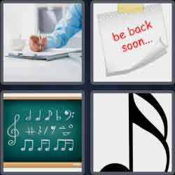 4-pics-1-word-4-letters-note