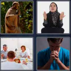 4 Pics 1 Word 4 Letters Pray