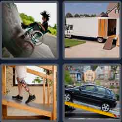 4 Pics 1 Word 4 Letters Ramp